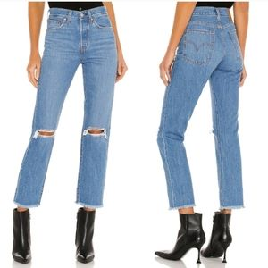Levi's WEDGIE Premium High Rise Straight Jeans